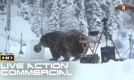 BEAR CAPTURED DOING LAUNDRY (HD) Hilarious 3d CGI VFX Commercial by theviralfactory.com