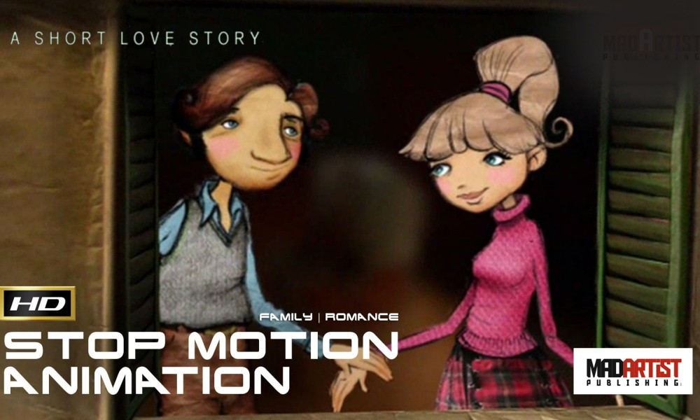 STOP MOTION SHORT LOVE STORY   Love is a canvas embroidered by imagination – 3D Animation Film by Carlos Lascano