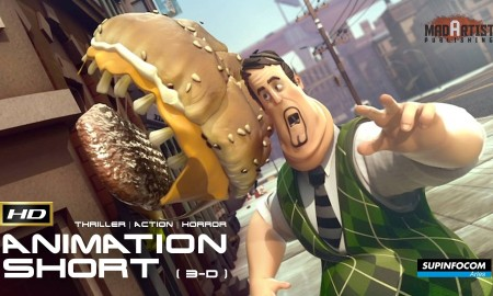 HAMBUSTER (HD) **Violent** Killer Burger Swallows Baby & more. 3d CGI Animated Film by SupInfocom