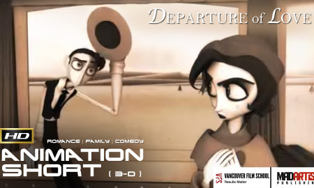 DEPARTURE OF LOVE (HD) Funny Vintage Love Story. CGI 3D Animated Short by Jennifer Bors / Ringling