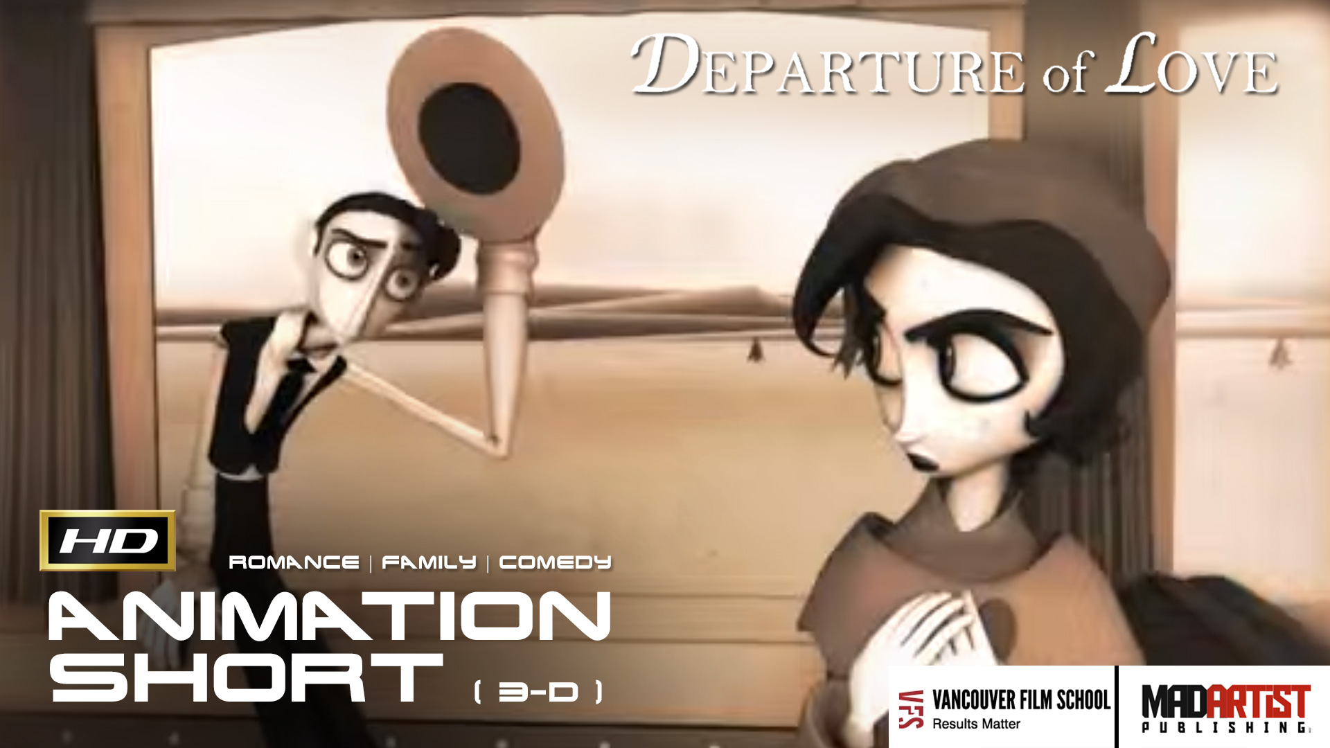 DEPARTURE OF LOVE HD Funny Vintage Love Story CGI 3D Animated Short By Jennifer Bors Ringling