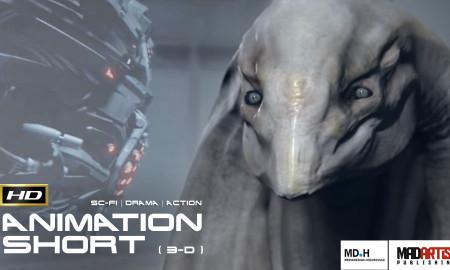 R'HA (HD) Fantastic SCI-FI 3D CGI Animation Short Film. Alien vs Machine. By Kaleb Lechowski