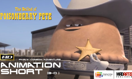 THE BALLAD OF POISONBERRY PETE (HD) CUTE & Funny Western. CGI 3D Animation Short film. By Ringling